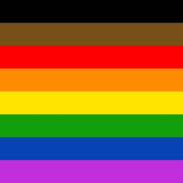 gay pride flag of people of colour inclusive